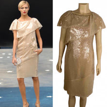 Load image into Gallery viewer, Chanel 08P 2008 Spring Beige Sequin Cocktail Dress FR 36 US 4