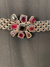 Load image into Gallery viewer, Chanel 04A, 2004 Fall Belt Red black Bordeaux gripoix ruthenium Metal chain belt