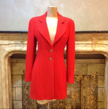 Load image into Gallery viewer, 94A Fall Chanel Vintage Orange/Red Wool Dress Coat Blazer Jacket FR 36 US 4