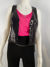 Load image into Gallery viewer, Chanel 03C Silk Charmeuse Vest with black sequins FR 42