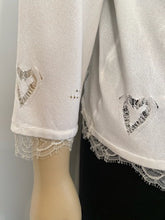 Load image into Gallery viewer, Chanel 06P 2006 Spring White Knit Lace Cardigan FR 44
