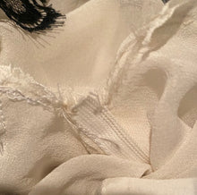 Load image into Gallery viewer, Chanel 2003 Fall 03A Snap Collection White Black Silk Mini Skirt FR 38 US 4