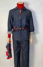 Load image into Gallery viewer, Vintage Chanel 99P, 1999 Spring denim blue jeans pants trousers FR 38