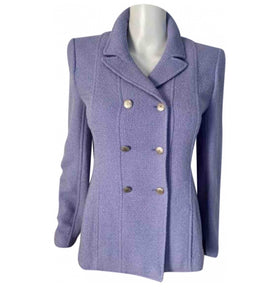 NWT New with Tags Chanel 98P, 1998 Spring Vintage Lilac/Blue double breasted jacket blazer FR 40