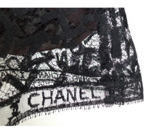 Load image into Gallery viewer, Rare! Chanel Vintage 98A Fall Logo Black Lace Tank top Blouse Camisole Skirt Set FR 38 US 4