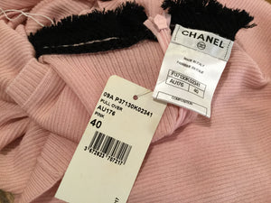New with Tags Chanel 09A pink knit pullover sleeveless cashmere sweater FR 40 US 4