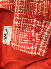 Load image into Gallery viewer, Chanel Vintage Orange 97P, 1997 Spring Plaid Tweed Blazer Dress Jacket US 10
