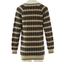 Load image into Gallery viewer, Chanel 07A striped beaded Cashmere Tunic Sweater Jumper FR 34