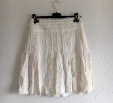 Load image into Gallery viewer, Rare Chanel 04C, 2004 Cruise Resort Ecru Tweed Fringe Skirt FR 38