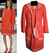 Load image into Gallery viewer, Chanel 08C Resort Cruise Coral Fringe Dress Jacket Tweed Sequin Set FR 42 US 8/10