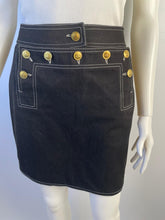 Load image into Gallery viewer, Rare Vintage Collectors 94P, 1994 Spring Chanel Black Denim mini Skirt FR 36 US 4