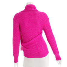 Load image into Gallery viewer, Chanel 2012 Fall 12A Pink Fuchsia Sweater w attached Scarf FR 34