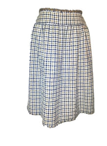 Chanel 08P, 2008 Spring 2 piece plaid tweed skirt suit jacket set size 10/12