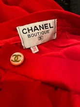 Load image into Gallery viewer, Vintage Chanel Red Chiffon Skirt FR 38 US 4