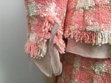 Load image into Gallery viewer, Chanel 04C Cruise Resort tweed Chiffon Pink Taupe Jacket Skirt Suit Set US 10/12