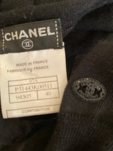 Load image into Gallery viewer, Chanel 07A Black Gray Cashmere Pullover Tunic Sweater FR 40
