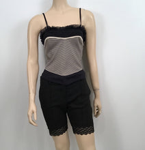 Load image into Gallery viewer, Chanel 2004 Spring, 04P Black Bermuda Lace trimmed Shorts FR 38 US 4/6