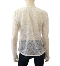 Load image into Gallery viewer, Preowned Vintage 'Le Make Up De Chanel' 04A Fall Autumn lace pullover top blouse FR 40 US 4/6