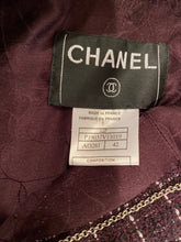 Load image into Gallery viewer, Chanel 02P 2002 Spring Maroon Tweed Jacket FR 42 US 6