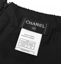 Load image into Gallery viewer, Chanel 03A snap collection black tweed Boucle lace mini skirt FR 38
