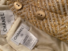 Load image into Gallery viewer, Chanel 00A 2000 Fall Gold Skirt Suit FR 38
