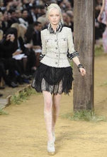 Load image into Gallery viewer, Chanel 10P, 2010 Spring Black Tulle Layered Lace Skirt FR 42 US 4/6