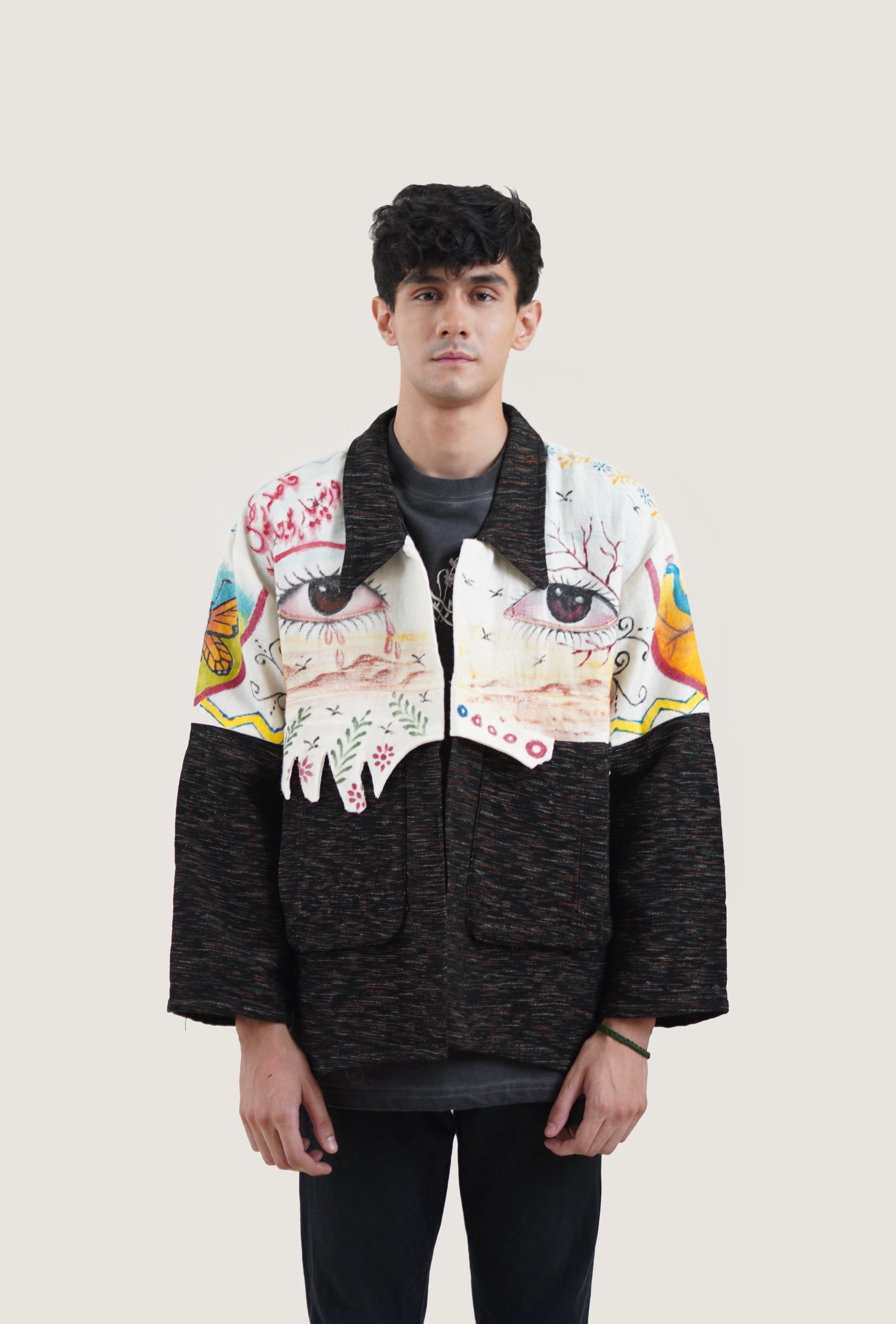 Dystopian Painted Dhaaba Jacket