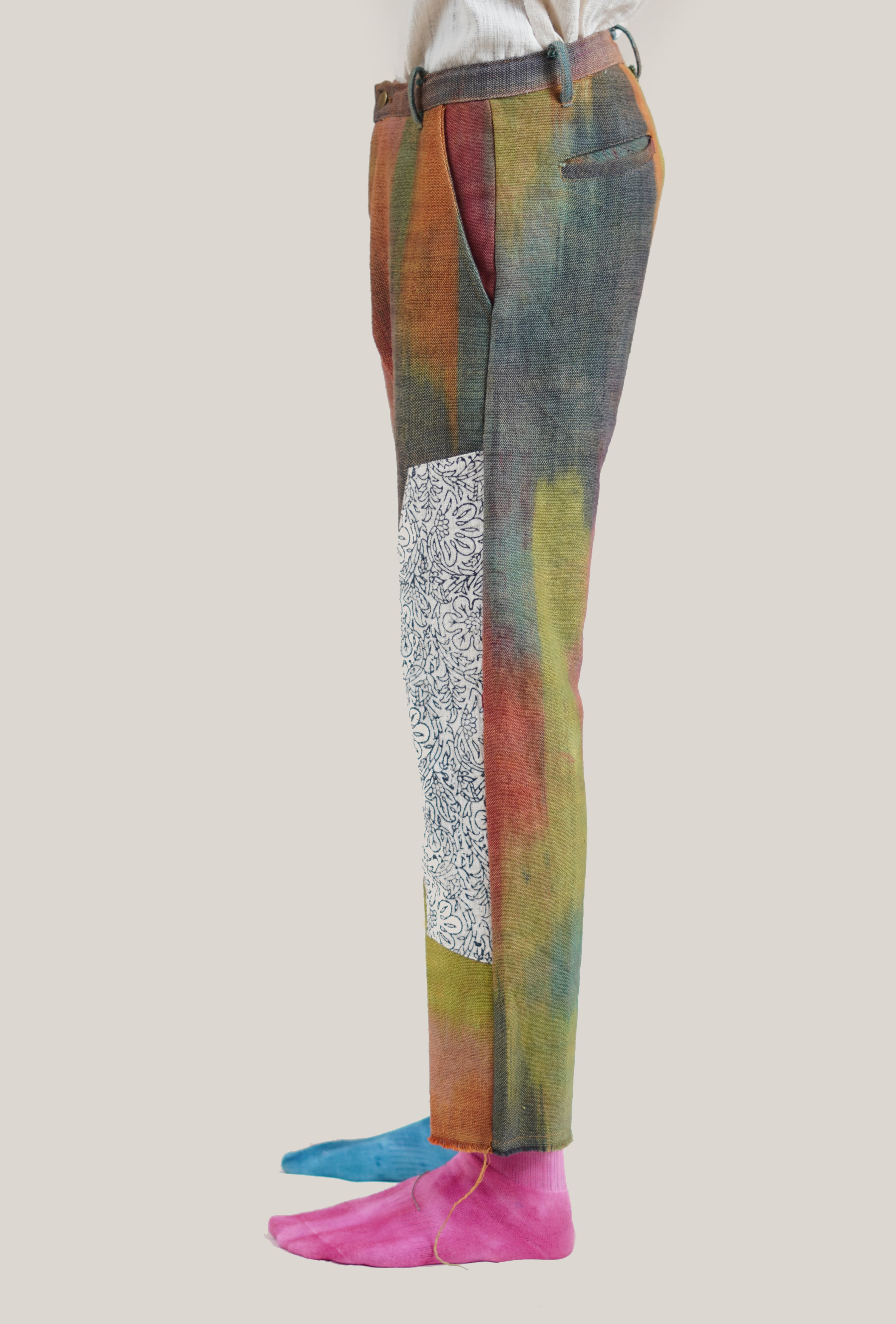Yarn Dyed Patch Trousers