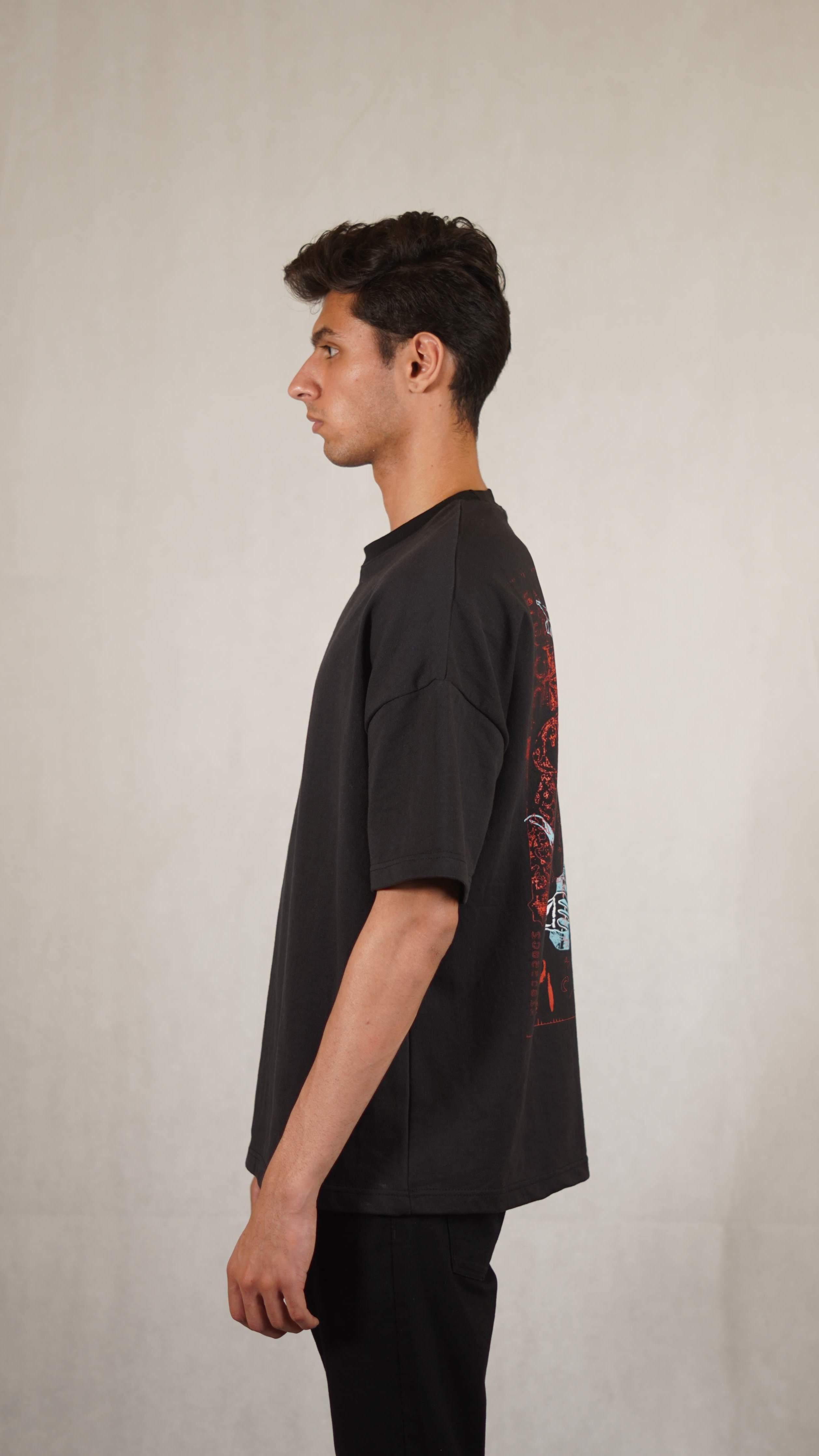 "Alyan Tareen ""Falling Faces"" Collab T-shirt"