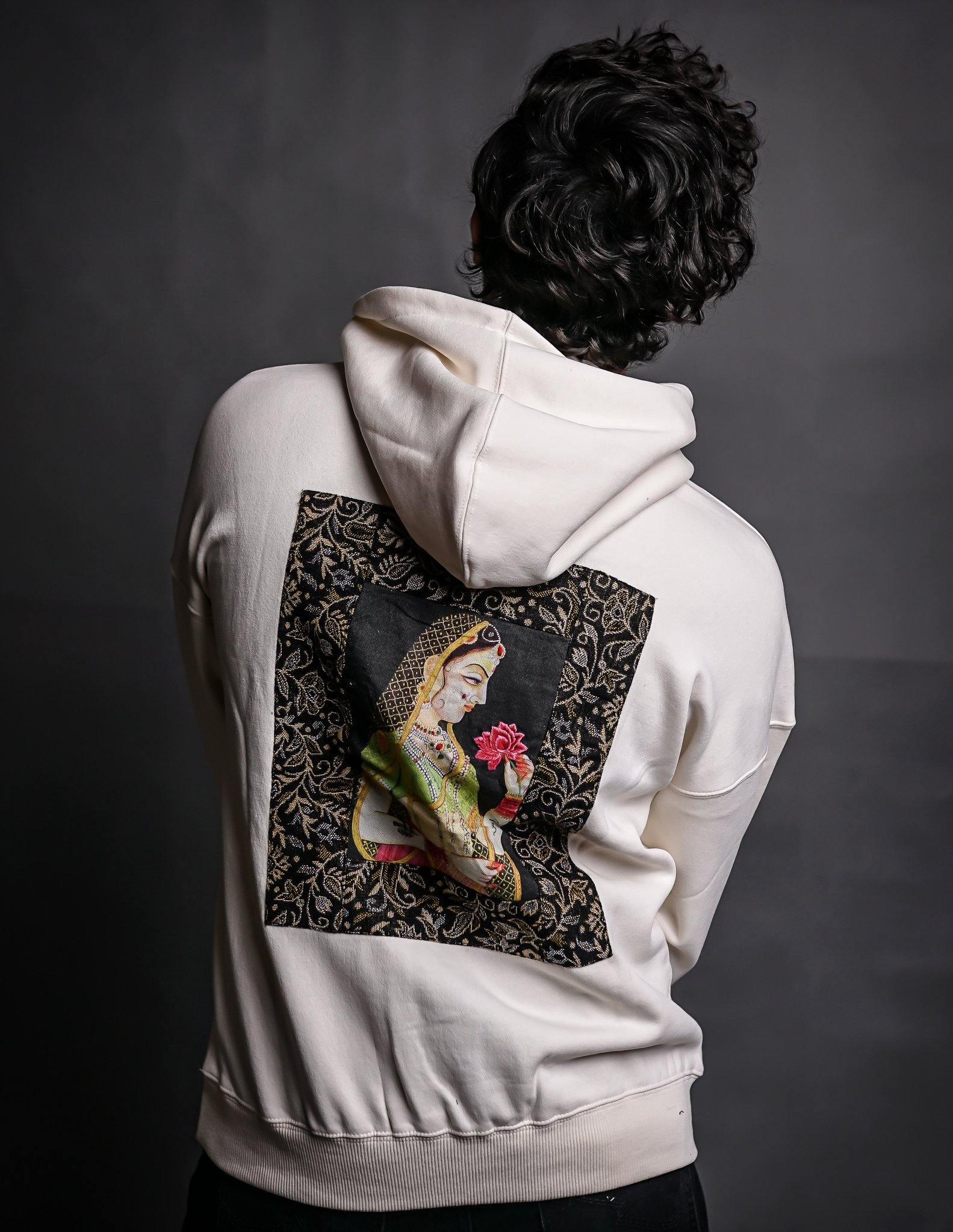 Hand Crafted Unisex Vanilla Creme Mughal Princess Hoodie