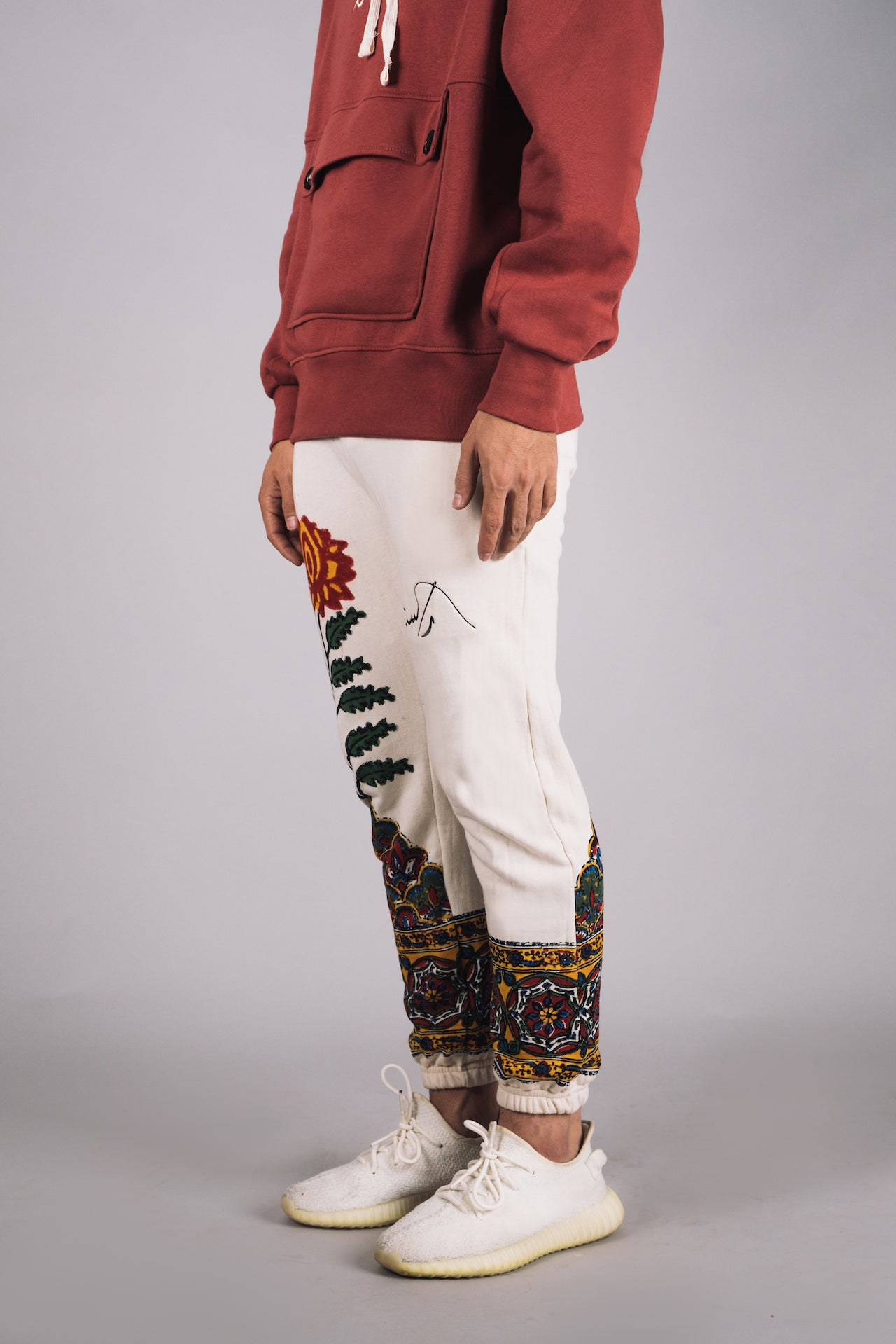 'Kalamkaar' Block-Print Sweatpants