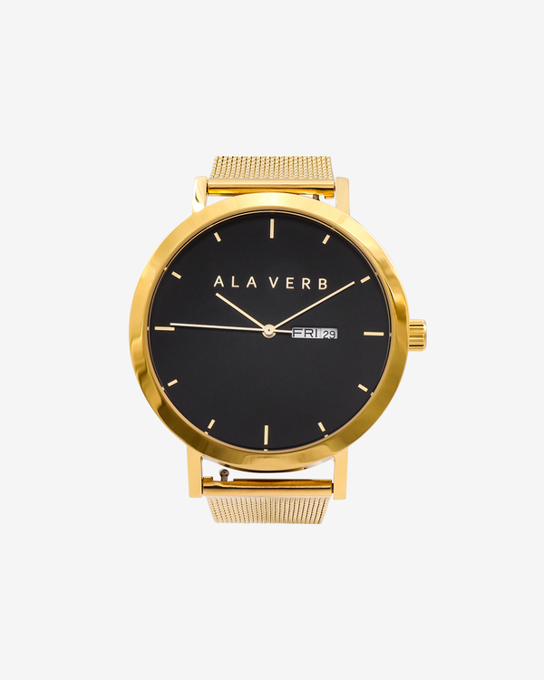 Ala Verb Signature Watch - Gold
