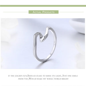 Geometric Wave Finger Ring