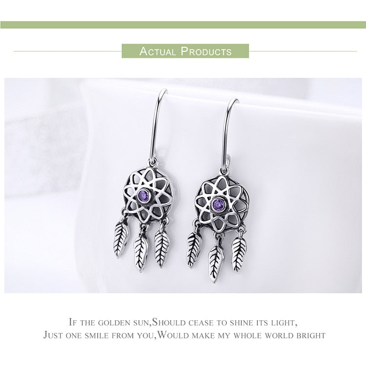 925 Sterling Silver Dreamcatcher Dream catcher Earrings