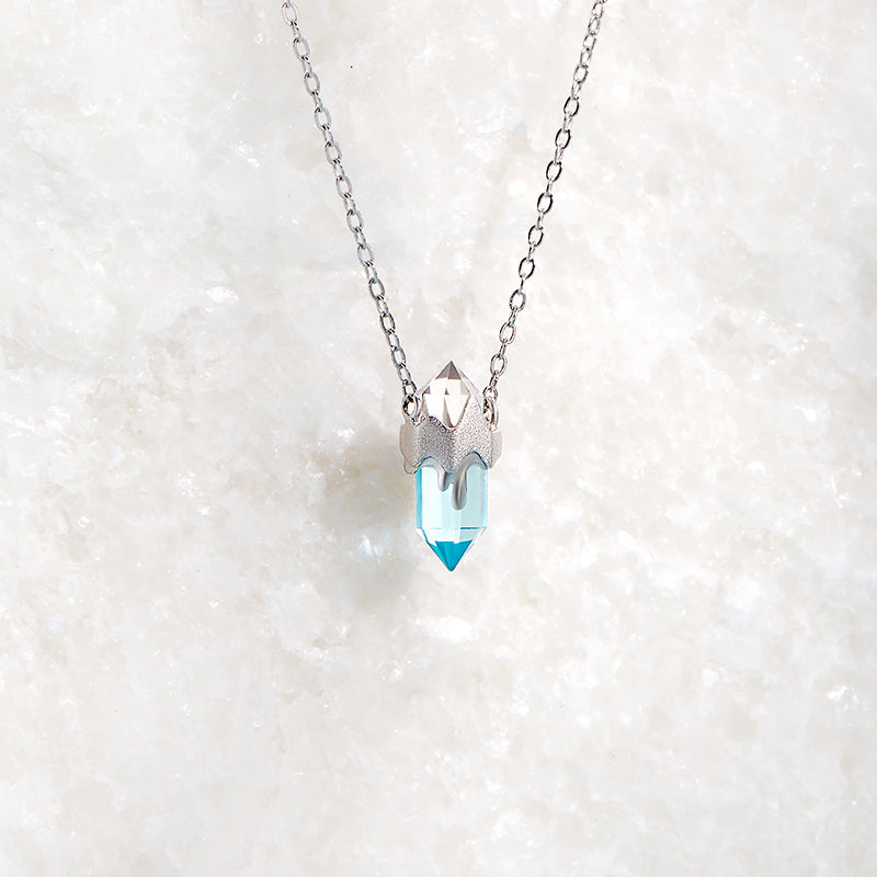 Asymmetrical Glacier Necklace