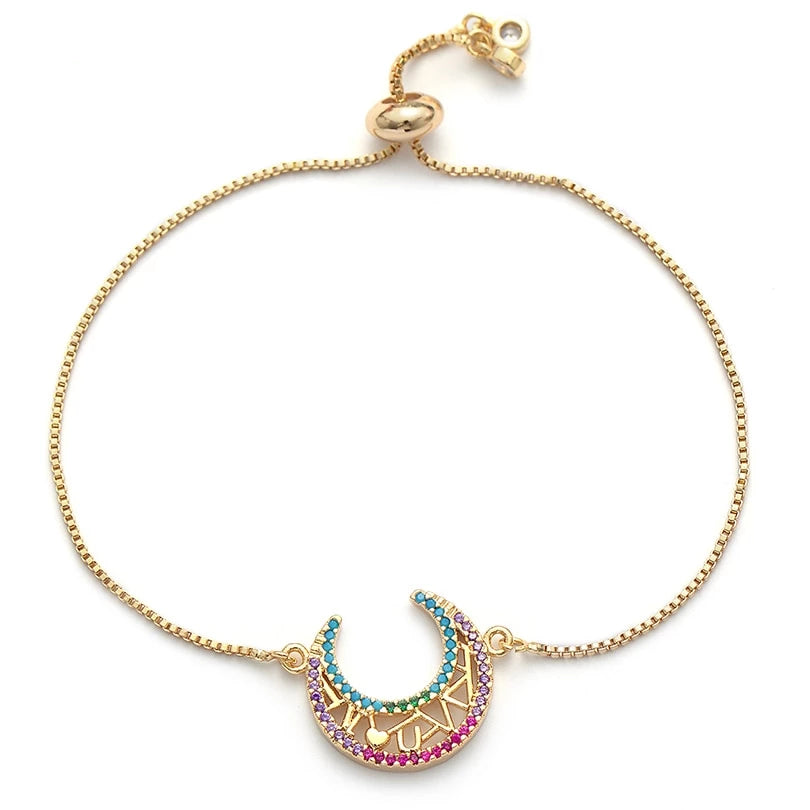 Hollow Moon Adjustable Bracelet