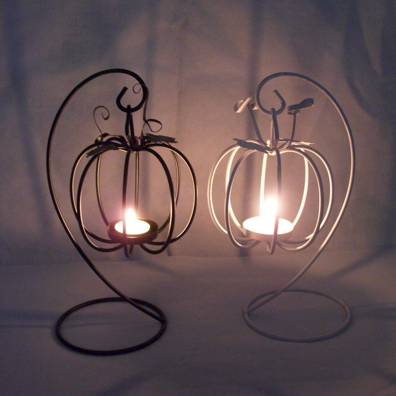 Iron Style Pumpkin Candle Holder