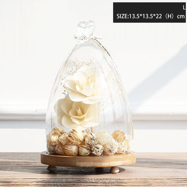 1 Piece Transparent Landscape Small Vase for Home Office