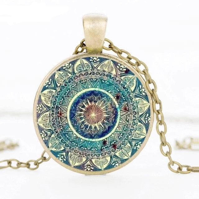 Vintage Glass Dome Necklace