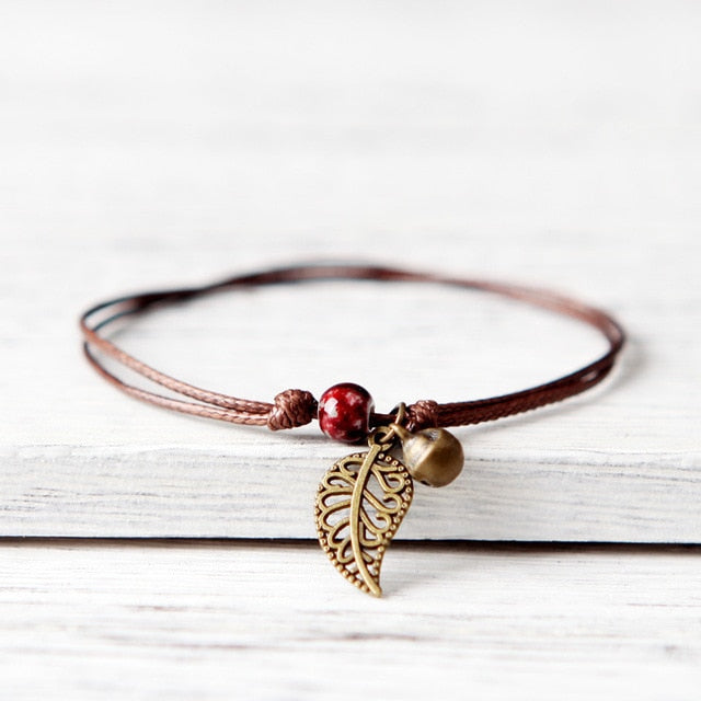 Simple Ceramic Leaf Bracelet