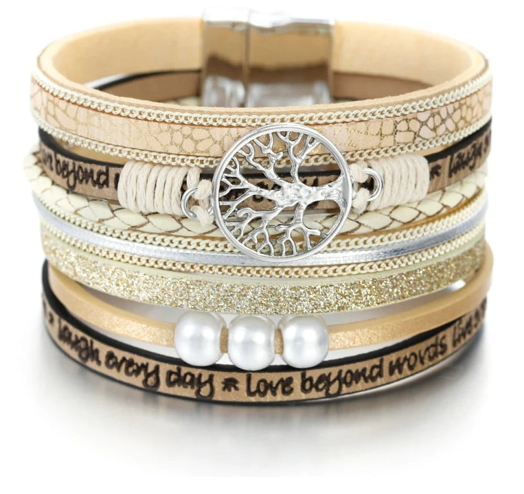 Tree of Life Ladies Bohemian Multilayer Bracelet