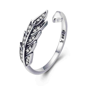 Sterling Silver Vintage Style Leaves Rings