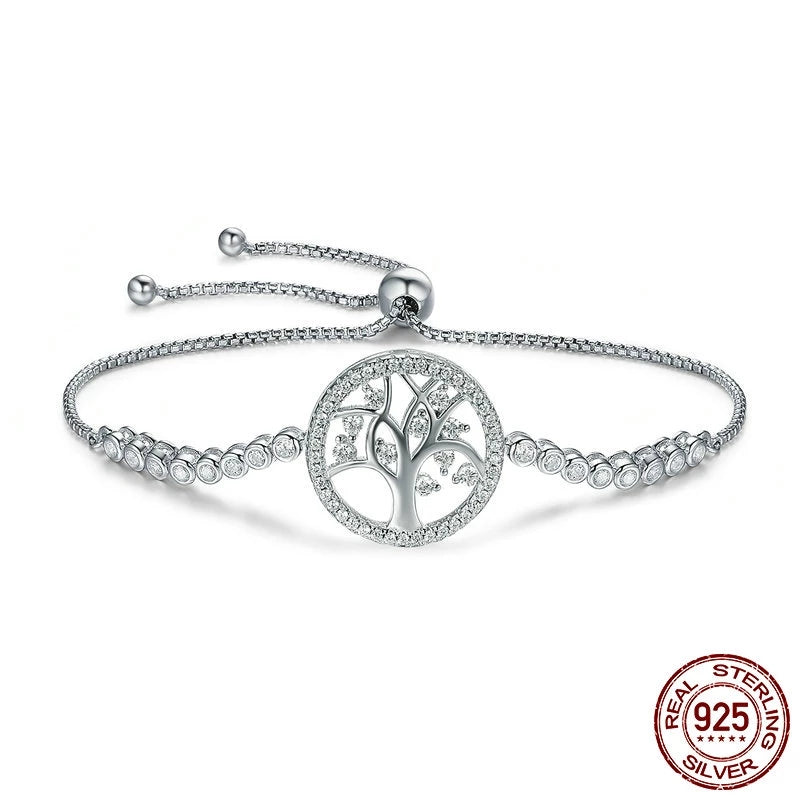 Tree of Life Tennis Adjustable Bracelet