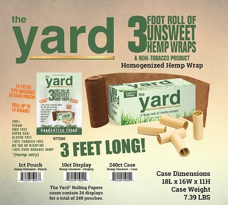 THE YARD ROLLO DE PAPEL HOMOGENEIZADO HEMP