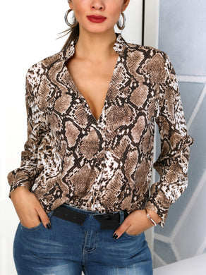 Snake Silk Blouse