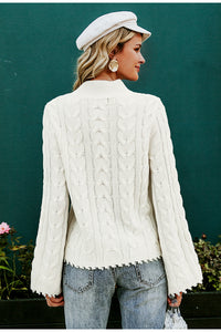 Simple White Knitted