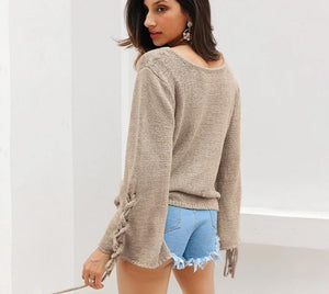Simple Lace Sweater