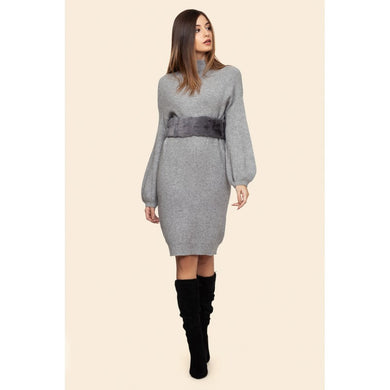 NECK KNITTED DRESS