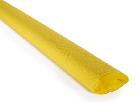 Italian Crepe Paper 60gms, Full roll 50cm x 250cm - Chick Yellow (292)