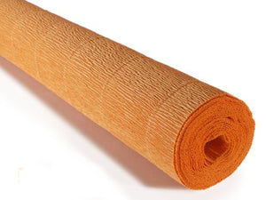 Italian Crepe Paper 180gms, Full roll 50cm x 250cm - Orange Pumpkin (610)
